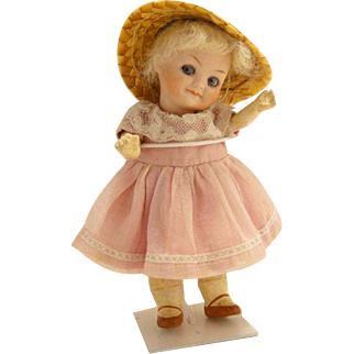 Rare Antique German Bisque Googly Doll 208 Walther and Sohn