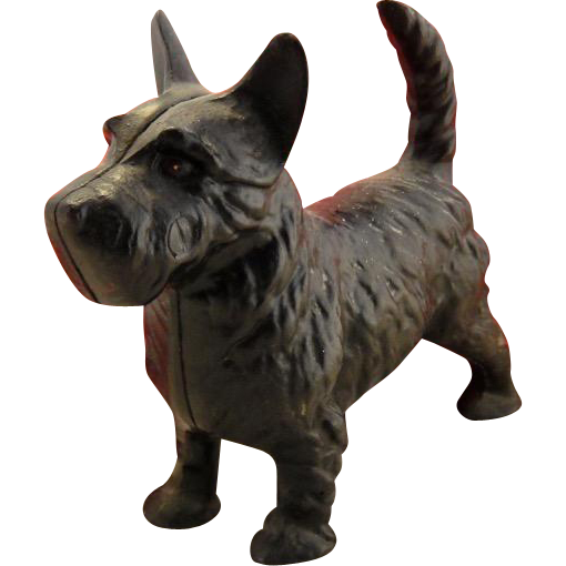Vintage Hubley Cast Iron Scottie Dog Door Stop