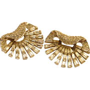 VINTAGE Boucher Rhinestone Brooch Set Pair
