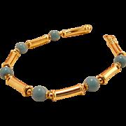 Vintage 14k Gold Persian Turquoise Italian Bracelet