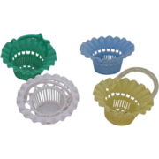Vintage circa 1960's Plastic Nut Baskets Set of Four