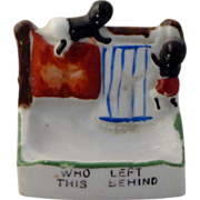 Rare Vintage Circa 1930 Black Americana Porcelain Dish