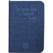 "Vintage World War II USO ""Service Book of Scripture and Prayer"""