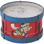 Vintage Ohio Art Tin Toy Drum