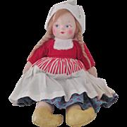 Vintage unmarked Felt Doll