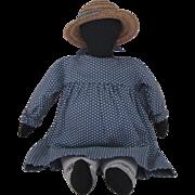 OOAK Handmade Black Doll