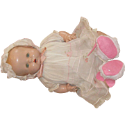 Antique Unmarked Composition Baby Doll Original Outfit Circa 1930's
