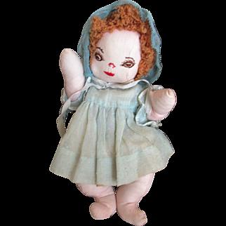 Vintage Handmade Cloth Doll All Original