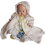 Vintage Unmarked Composition Doll All Original