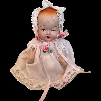 Vintage Occupied Japan Bisque Doll All Original