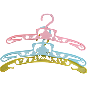 Vintage Doll / Baby Plastic Nursery Hangers Set of 3