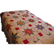 Vintage Multicolored Quilt