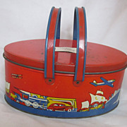 Vintage Ohio Art Tin Lunch Pail Circa 1930's