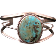 Vintage Custom Navajo Sterling Silver and Turquoise Bracelet