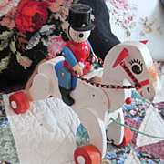 Vintage Wooden Toy Horse Great Doll Display