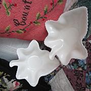 Vintage Spode Porcelain Leaf Tidbit Bowls