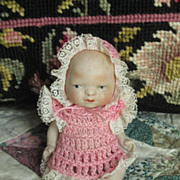 Vintage Bisque Doll Circa 1940's Original