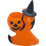 Vintage Rosbro Plastic Halloween Candy Holder