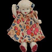 "Vintage ""Japan"" Bisque Articulated Doll"
