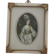 Vintage Framed Miniature Portrait Print