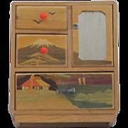 Vintage Doll Size Wooden Dresser