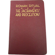 Vintage 1950 Rare Roman Ritual Sacrament And Processions Catholic Book