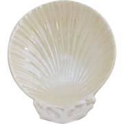Vintage Belleek Shell Disk