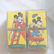 Vintage Disney Mickey and Minnie Blocks