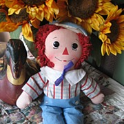 Vintage 1960's  15 inch Knickerbocker Raggedy Andy ADORABLE!