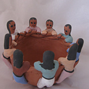 Authentic Handmade Hand Painted Artist Signed Navajo Clay Friendship Pot