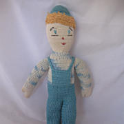 ADORABLE Vintage Circa 1940's Handmade Doll Just Too Cute!