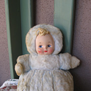 Sweet Musical Cloth Doll Circa 1940's