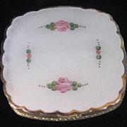 Gorgeous Vintage La Mode Guilloche and Floral Design Compact
