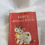 Antique Linen Child's Book Great Graphics Excellent Condition