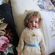 Antique 16 Inch Armand Marseille Bisque Doll 370 5/0 German Made Sleep Eyes