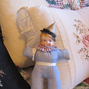 Antique China Head Pin Cushion Doll All Original