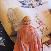 Vintage Google Eyed Bisque Doll All Original