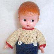 Vintage Knickerbocker  6 inch Baby Doll Baby Rattle Circa 1940