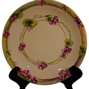 Limoges Violet Plate