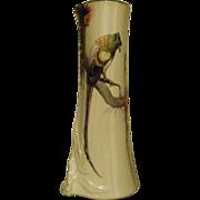 Limoges Parrot Vase