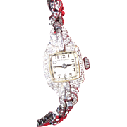 Art Deco Hamilton 1920s Platinum Diamond Ladies Watch
