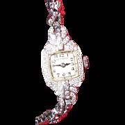 Art Deco Hamilton 1920s Platinum Diamond Ladies Watch