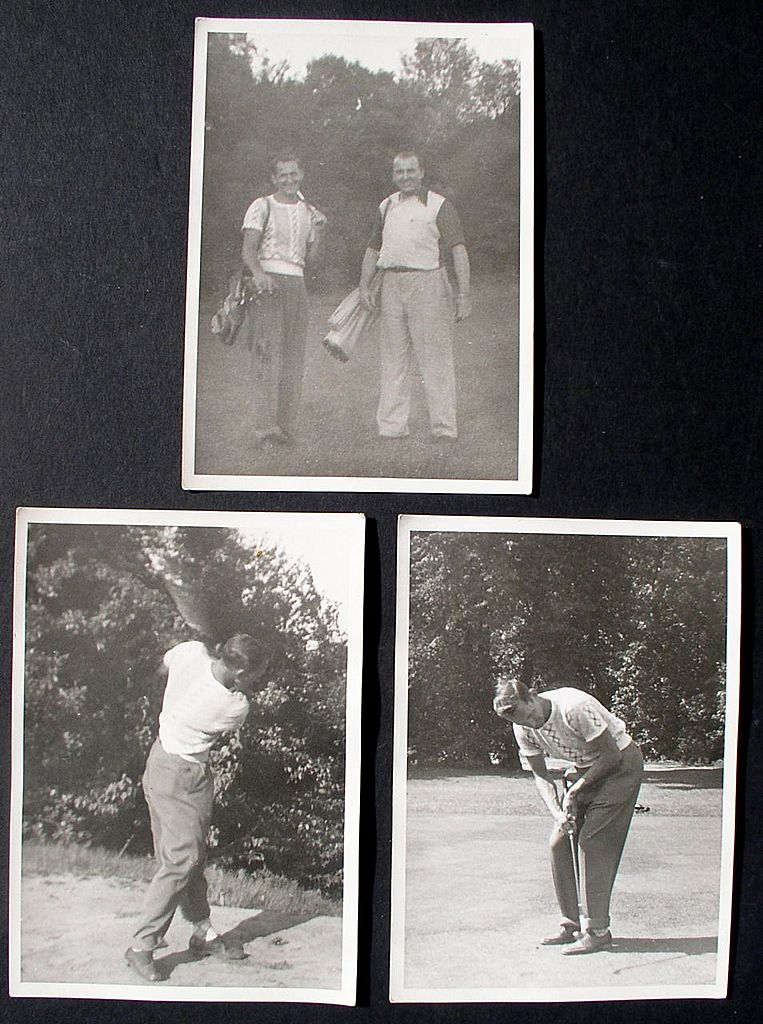 "Golf Photos (3) From 1940's 5"" x 7"" Black & White"