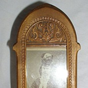 Antique 1880s Wooden Carved Miniature Frame