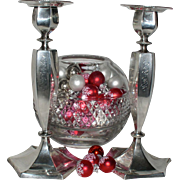 Beautiful Pair of Berry & Whitemore Sterling Silver Candlesticks