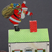 SANTA CLAUS  Vintage Mechanical  Tin Toy Criterion Co.