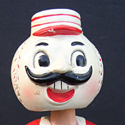 "Cincinnati Reds 1960's Nodder Bobble Head ""Ball"" Head Nice!"
