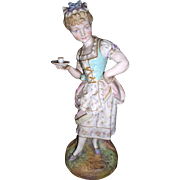 Antique Messien Style Figural Young Girl Statue