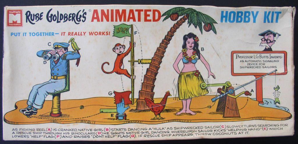 "Rube Goldberg ""Signal for Shipwrecked Sailors"" 1965 Model Kit"