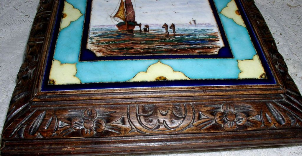 tile trivet antique beautiful french hand painted trivet tile call bell
